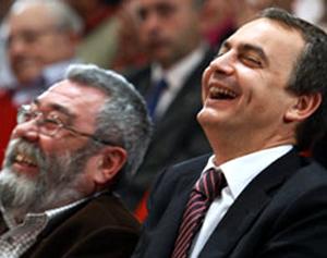 Cándido Méndez y José Luis Rodríguez Zapatero