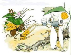 La cigarra y la hormiga, fábula de Esopo